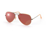 Ray-Ban Aviator Large Metal RB 3025 167/k2, Aviator Sonnenbrillen, Braun